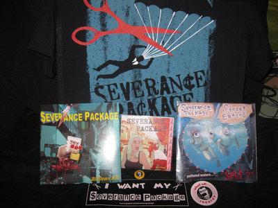"""PACKAGE DEAL - $25 - T-SHIRT, CD, 2 7""""S, STICKER, BUTTON main photo"""