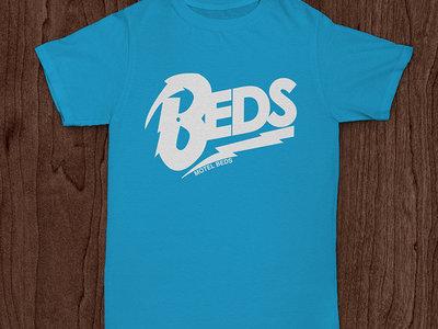 'Beds' Logo T-Shirt (white/turquoise) main photo