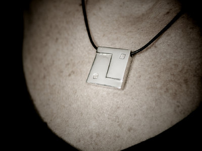 Square Ying Yang Pendant - Solid Polished Silver main photo
