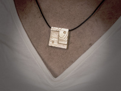 Square Ying Yang Pendant - Gold-plated Stainless Steel main photo