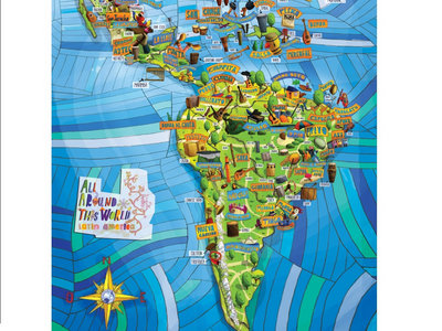"All Around This World: Latin America Musical Map -- 24"" x 36"" poster main photo"