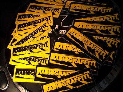 Radiograffiti Stickers – 4 5/16″ W, 1 7/16″ H main photo