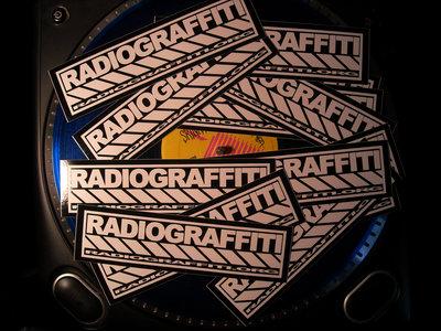 Radiograffiti Stickers – 7 1/2″ W, 2″ H main photo