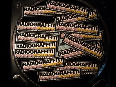 Radiograffiti Stickers – 5 1/2″ W, 1 3/8″ H main photo