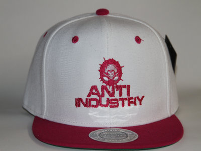 white & Pink Antiindustry Snapback main photo