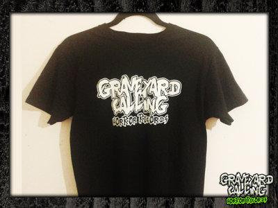 Glow-In-The-Dark Graveyard Calling Logo T-shirt main photo