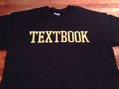 Varsity Lettering T-shirt (Black shirt with Gold Type) main photo