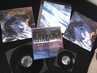 "The Warrior´s Code LP (black 12"" vinyl with bonus 7""), + signed card main photo"