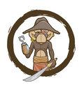 Robotic Pirate Monkey image