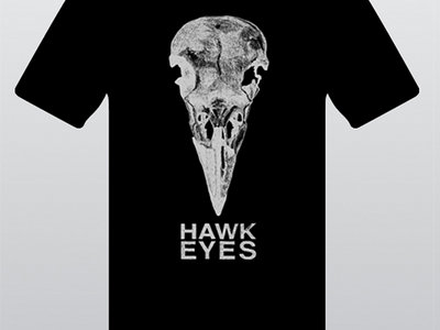 Black Hawk Eyes Logo T-Shirt with Silver Print main photo