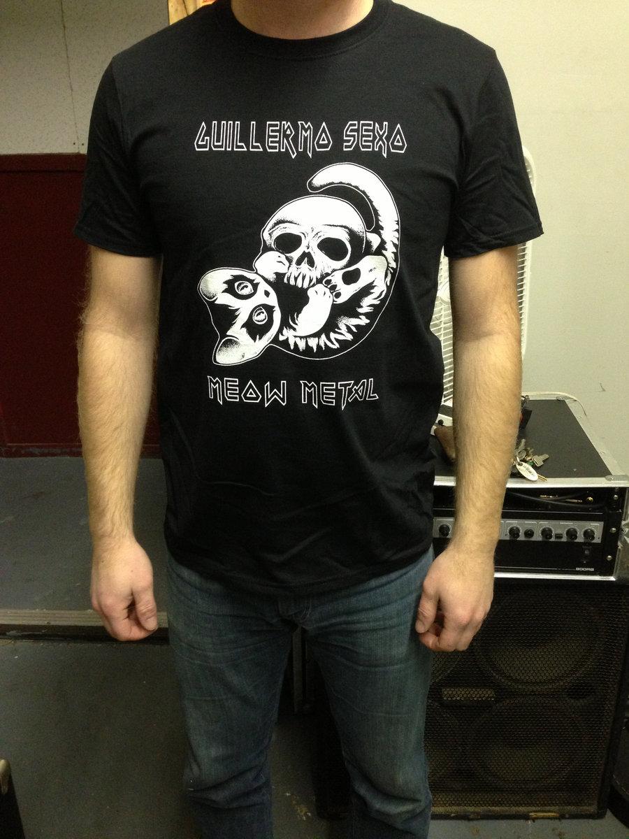 9175938c85 GUILLERMO SEXO- MEOW METAL T-shirt   Guillermo Sexo