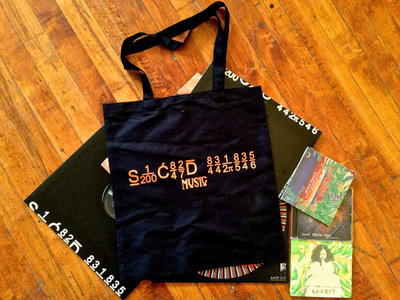 Sacred Rhythm Music Tote Bag - Black main photo