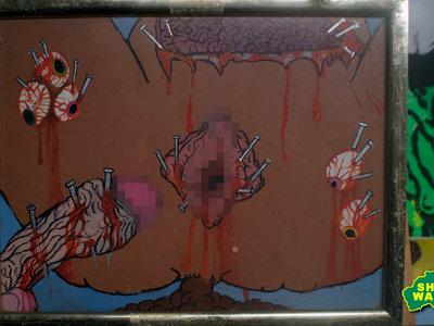 d#ckc#nteyeballs gutsnailed sh#ttinginbath Painting by pos main photo
