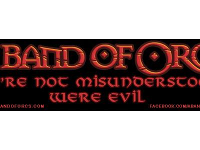 """We're Not Misunderstood, We're Evil"" Bumper Sticker main photo"