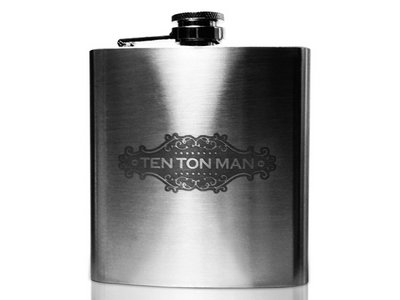 Ten Ton Man engraved flask main photo