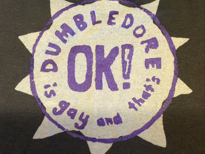 "new ""Dumbledore is Gay and that's OK!"" tee main photo"
