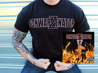 "OG Christmas Combo: ""SchwarZenatoR"" Logo T-shirt (L&XL only) + Full-Length CD + ""Jingle All The Way"" digital single! main photo"