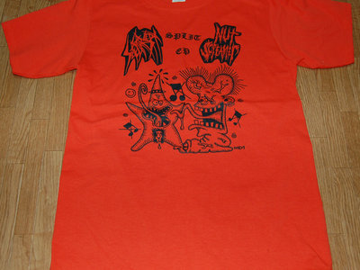 Split w/Nut Screamer split ep T-shirt (Orange) main photo