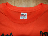 Split w/Nut Screamer split ep T-shirt (Orange) photo