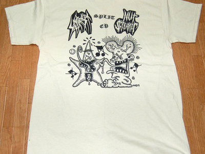 Split w/Nut Screamer split ep T-shirt (White) main photo