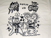 Split w/Nut Screamer split ep T-shirt (White) photo