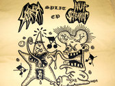 Split w/Nut Screamer split ep T-shirt (Yellow) photo