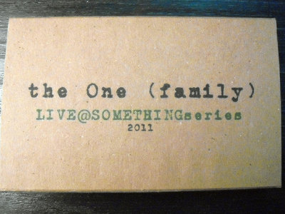 "AMOK054 - the One (family) - ""Live @ SOMETHINGseries"" CASSETTE main photo"