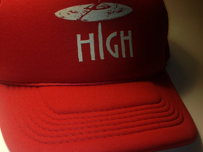 """""""High"""" Hat - Trucker Hat - Red Only Available at this time! main photo"""