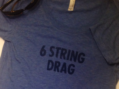 Women's 6 String Drag Tee - Triblend Blue Only (by Bela) main photo