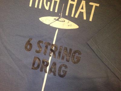 6 String Drag Logo & High Hat Shirt - LAKE BLUE ONLY main photo