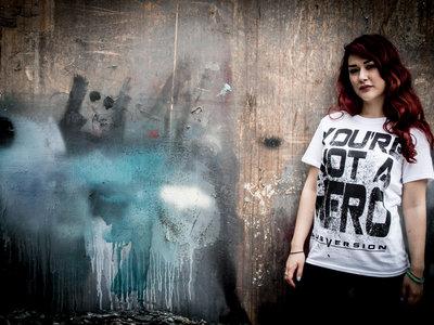 "White ""Not A Hero"" T-Shirt + Free Download main photo"