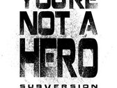 """White """"Not A Hero"""" T-Shirt + Free Download photo"""