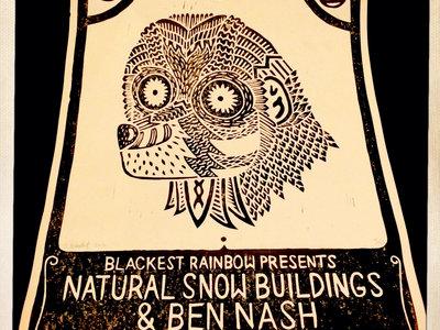Natural Snow Buildings + Ben Nash Live In Sheffield Print by Jake Blanchard main photo