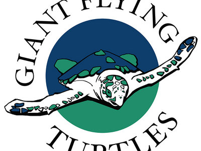 Giant Flying Turtles logo white t-shirt main photo