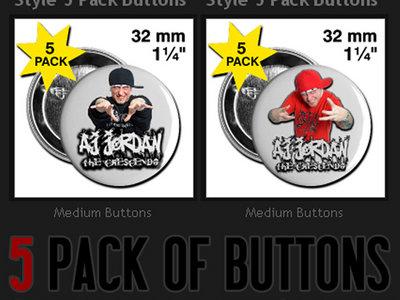 AJ Jordan Red/Black Buttons (5 Pack) main photo