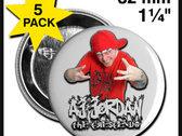 AJ Jordan Red/Black Buttons (5 Pack) photo