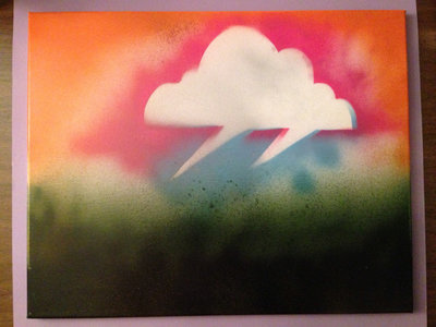 """Storm Cloud"" - Rtis - 20"" x 16"" original painting by Rtis a.k.a. Brian Kruse main photo"