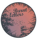 Burnt letters image