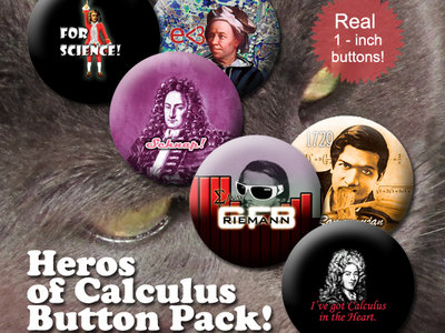 Heroes of Calculus - Button Pack main photo