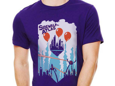 """Philly Escapes The Robot Apocalypse"" Shirt (in royal purple) main photo"