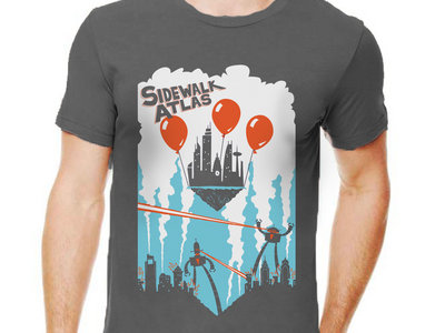"""""""Philly Escapes the Robot Apocalypse"""" t-shirt (SUPER LIMITED GREY) main photo"""