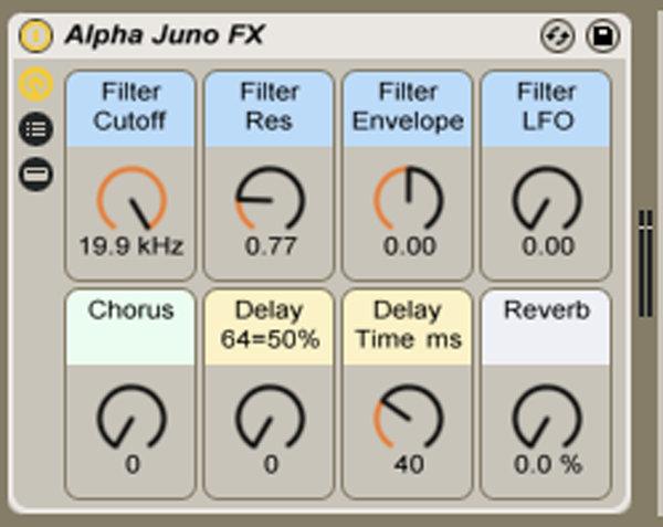 Roland Alpha Juno Ableton Live Rack Examples   Teen Power