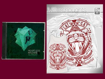 "BUNDLE: ""Heartless Machine"" CD + ""Cat"" T-shirt/Girl tanktop main photo"