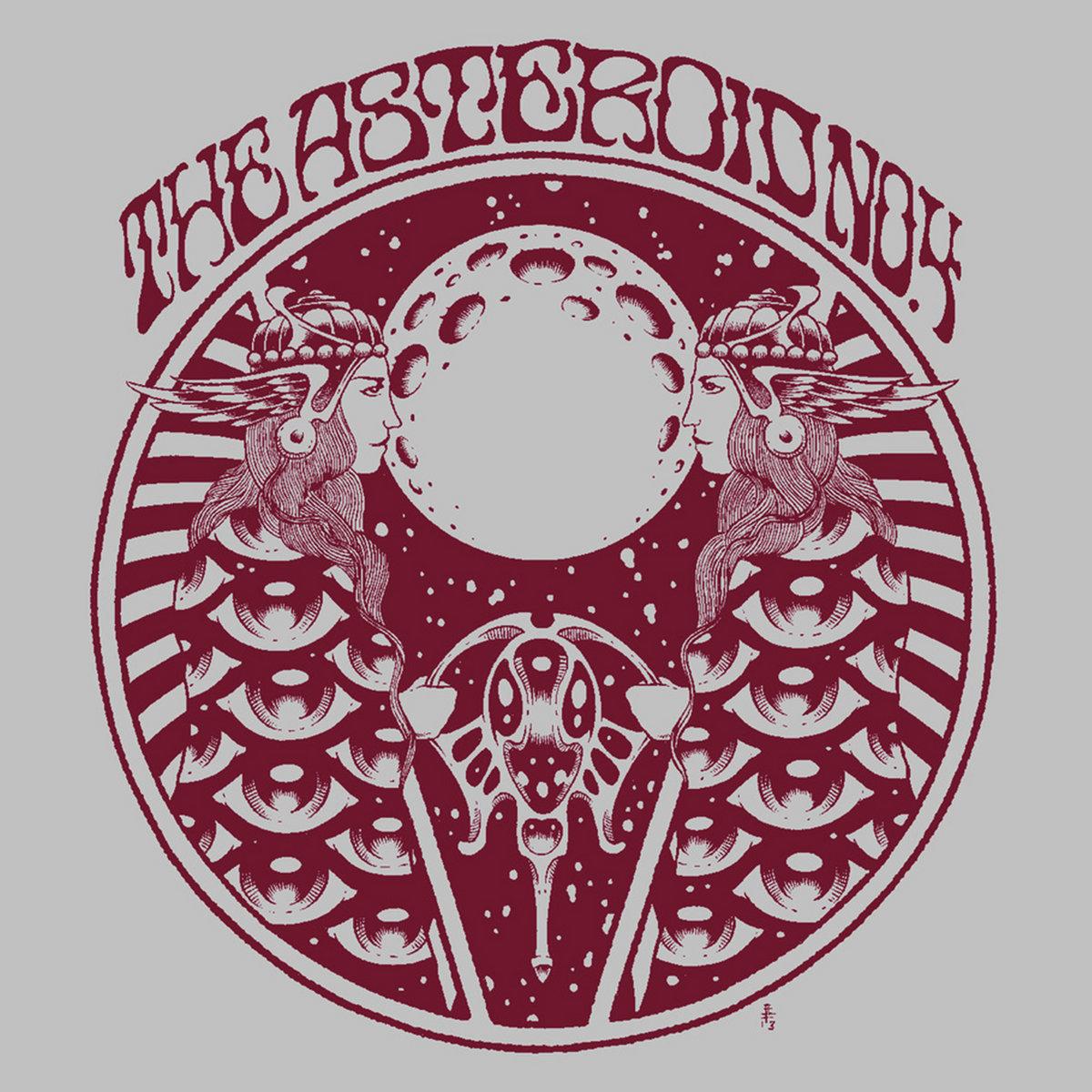 Asteroid No 4 Grey w/ Red Album Art Tshirt, Free Album
