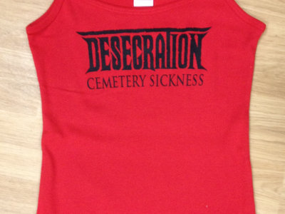 Cemetery Sickness Girlie shirt - Red SOLD OUT main photo