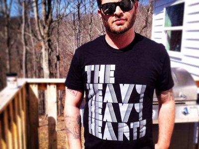 """""""The Heavy Heavy Hearts"""" Crew Neck Black Tee main photo"""
