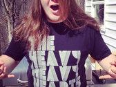 """""""The Heavy Heavy Hearts"""" Crew Neck Black Tee photo"""