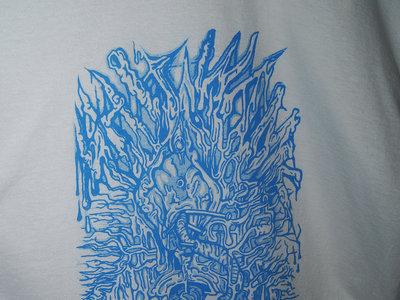 """SHITWANK TERDWORM REBIRTH"" Fluro Blue P.O.S Logo  XL T-SHIRT main photo"