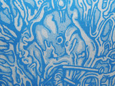 """SHITWANK TERDWORM REBIRTH"" Fluro Blue P.O.S Logo  XL T-SHIRT photo"