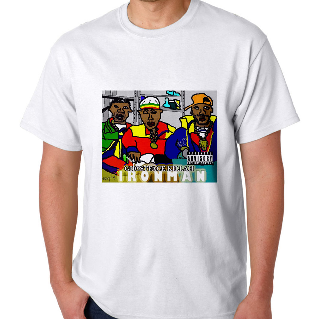The Ironman Mspaint Tee Tape Eatgoodrecords Red Tees Package Image